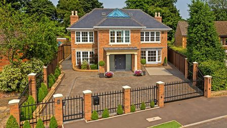 The 9921 sq ft property is on one of St Albans' most prestigious roads