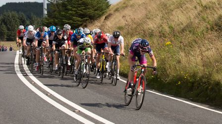 Michael Parry leads the junior Tour of Wales (pic Judith Parry)