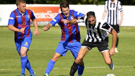 Danny Kelly hit a hat-trick in St Ives Town's defeat to Kettering. Picture: DUNCAN LAMONT