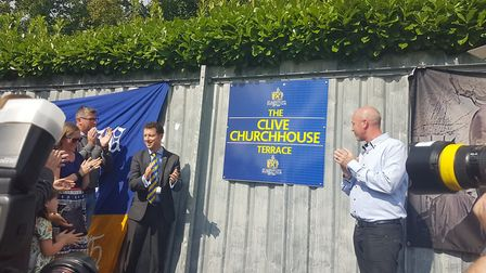 The Clive Churchhouse plaque unveiling on Saturday, September 2. Photo: FRASER WHIELDON