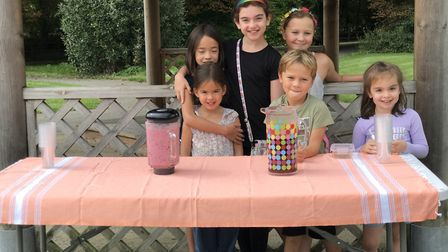 A group of young friends raised nearly £50 for the RSPCA through juice sales.