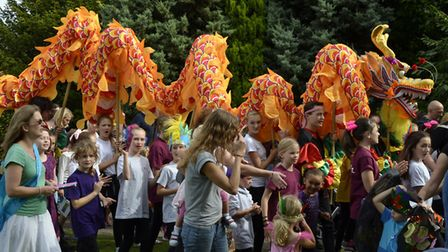 Carnival procession at Royston Arts Festival last year. Picture: Terry Hartga
