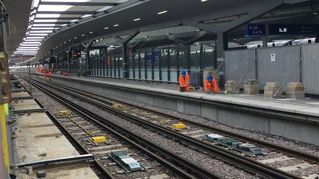 Platform 6 at the redeveloped London Bridge ready for opening on September 3.