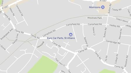 The area where the big cat was spotted in St Albans. Picture: Google Maps