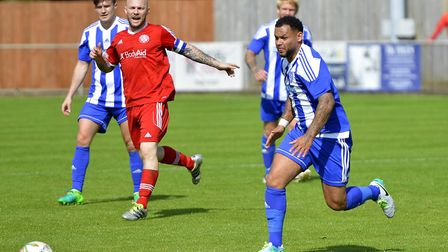 Summer signing Dom Lawless has already scored eight times for Eynesbury.