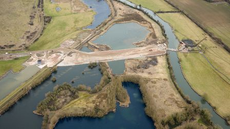 Work on the A14 upgrade. Photo: JAMES WALKER