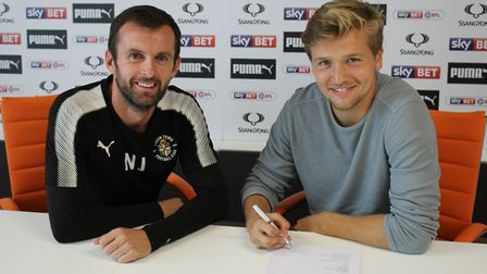 Royston's Luke Berry has signed for Luton Town
