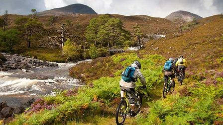 The route will take them past beautiful Scottish countryside.