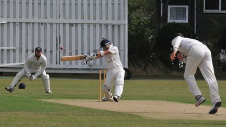 Adam Winchester hit an unbeaten 114 as Harpenden 2nds won the SHCL Division One title. Picture: DANN