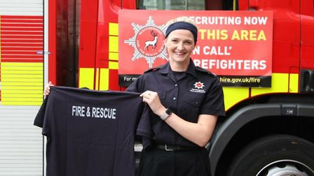 On-call Markyate firefighter, Gemma Fraser. Photo: HERTS COUNTY COUNCIL FIRE AND RESCUE SERVICES
