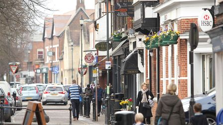 The high street has a mix of chain stores and independents