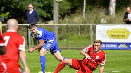 Jordan Brown was one of the Eynesbury Rovers goalscorers in their Tuesday victory at Peterborough No