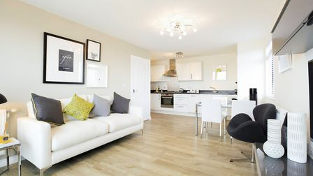 A typical Taylor Wimpey apartment interior