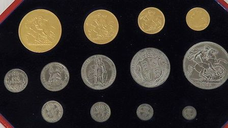 The 'Specimen Set' of coins. Photo supplied by Humbert & Ellis Auctioneers.