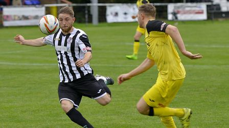 Ben Seymour-Shove put St Ives Town ahead against Weymouth. Picture: DUNCAN LAMONT