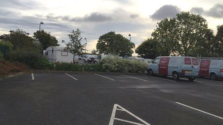 Travellers moved onto several sites in Godmanchester earlier this month.
