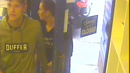 Police would like to speak to these two people in connection with an incident of fraud.