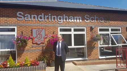Sandringham School head, Alan Gray, at the school campus where the meeting is being held.