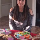 Amelie Hayes and some of the cakes she baked for Macmillan Cancer Support.
