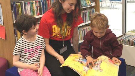 Taking part in the summer reading challenge. Picture: HCC