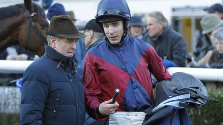 Trainer Jonjo O'Neill (left) after enjoying a winner at Huntingdon Racecourse earlier this year. Pic