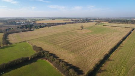 The land is predominantly in arable production