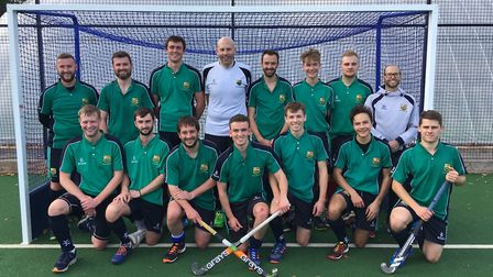 The St Ives Men's 1sts side, who beat Bury St Edmunds last Saturday, are back row, left to right, Ga
