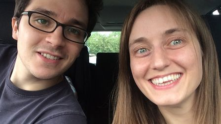 Sarah Barker, pictured with husband Richard, has urged people to talk to their families about being