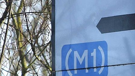 Woman injured in M1 collision between St Albans and Watford.