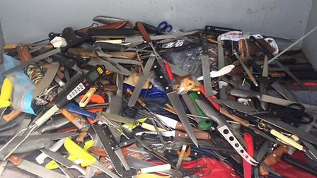 Knives collected during a previous amnesty.
