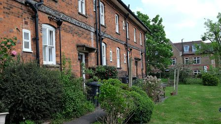 The back of the Duchess of Marlborough's almshouses