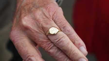 Claude Browne's wedding ring after it was lost and found in Morrisons Royston store. Picture: Danny
