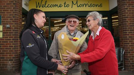 Morrisons' Kathy Land remembered she had logged Claude's wedding ring when it was found in store, an
