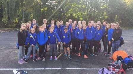 St Albans Athletics Club celebrate their first South of England team title at the SEAA Road Relay Ch