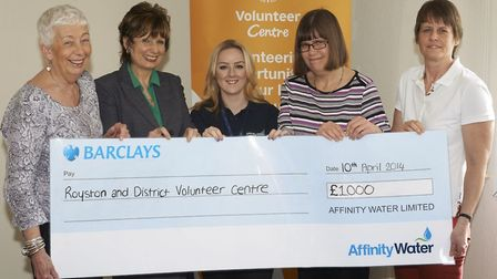 Left, Councillor Lindsay Davidson with Denise Graham, and volunteers Rachel Crabtree, and Anne Bea