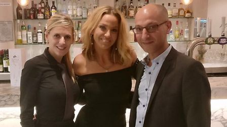 Sarah Harding visited St Albans while filming Irish TV show Livin' with Lucy.