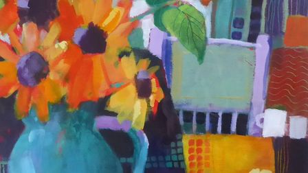 Sunflowers will be exhibited by Jan Munro