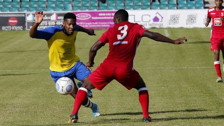 Shaun Lucien set St Albans City on their way to victory over Bridport in the FA Cup. Picture: LEIGH