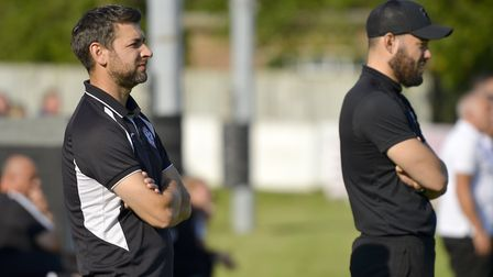 A drubbing at Dorchester did not make for good viewing for St Ives manager Ricky Marheineke (left) a