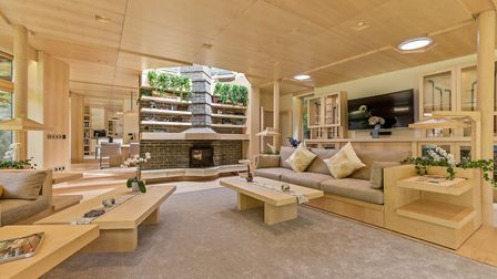 The inside of the house, which will appear on Grand Designs.