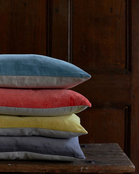 Shades: Also Home have updated their popular cotton velvet cushions with a change to shape and a ref
