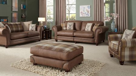 Tartan touch: The Downton sofa collection blends multiple and timeless and classic designs