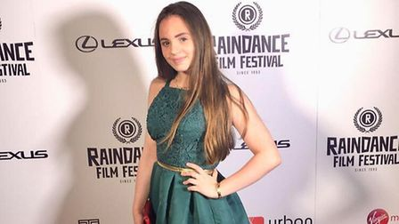 Connie Jenkins-Greig on the red carpet for the film Amber.