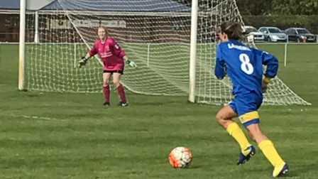 Sophie Lawrence scored twice as St Albans Ladies beat Flitwick 7-1.