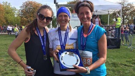 Jenny Moore, Stacey Harris and Judy Willits helped St Albans Striders take the team prize at the Win