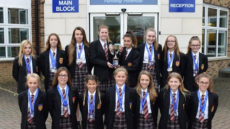 The St Ivo School Under 14 girls' squad who will represent England later this month.