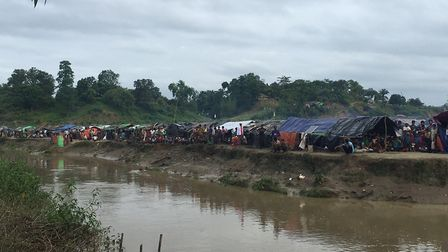 The refugee camps in Bangladesh.