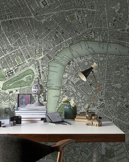 Big impact: The 'Chart of London City' Mural from the National Maritime Museum Collection is ideal f