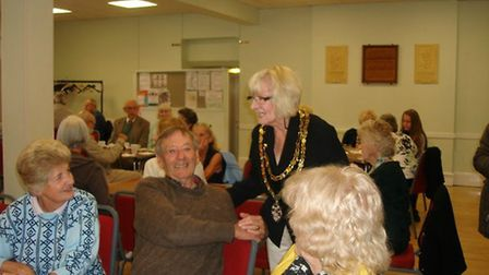 Royston mayor Vera Swallow meets guests at the town council's Silver Sunday 2017 celebration. Pictur