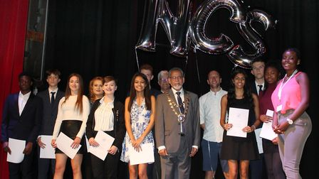 Cllr Zia stood with graduates of the National Citizen Service at a ceremony on Sunday, September 24.